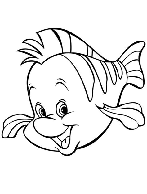 flounder little mermaid coloring page coloring pages lineart disney little mermaid 10