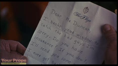 home alone 2 letter to mr duncan replica prop