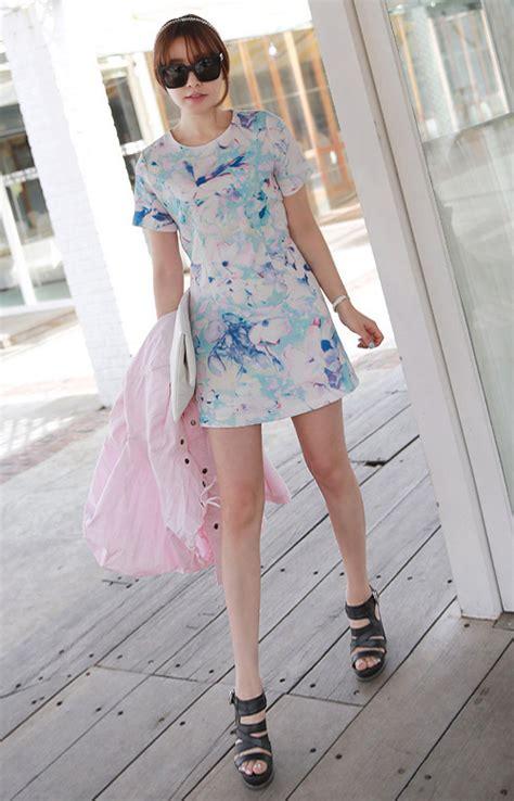 Dress Pesta Motif Bunga Korean Style 1 inspirasi mini dress bunga yang cantik