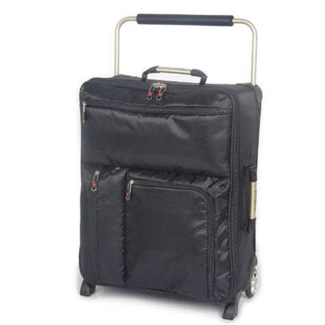lightest cabin suitcase it luggage world s lightest 55cm max cabin suitcase black
