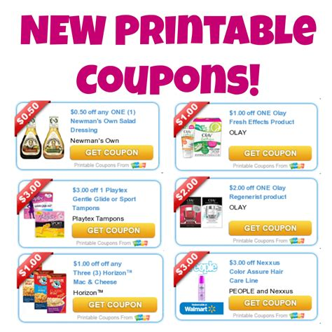 latest printable grocery coupons new printable coupons olay playtex and more