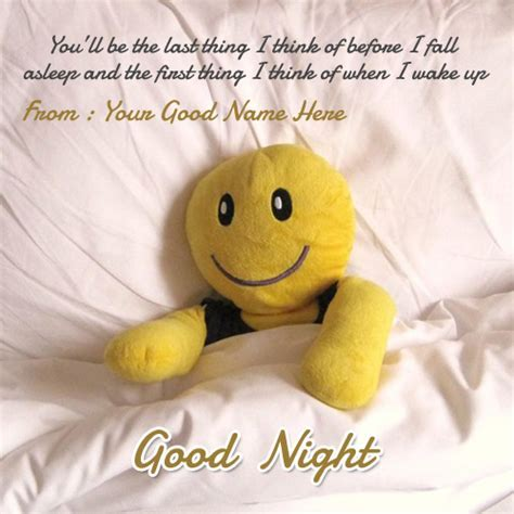 Good night wishes pictures with name image
