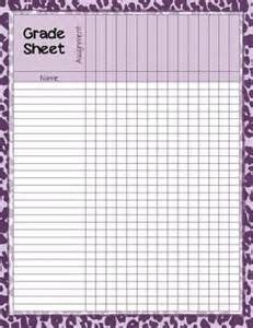 Printable Grade Sheet Template by Classroom Economy Math Class Charly Baker