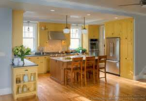 pictures of kitchens traditional yellow kitchen cabinets