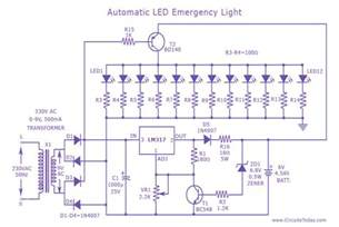 led light bulbs circuit diagram automatic led emergency light circuit