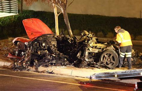 paul walker muerto paul walker death in a porche gt car accident photos