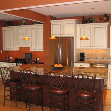 burnt orange paint w white cabinets paint colors orange cabinets burnt orange
