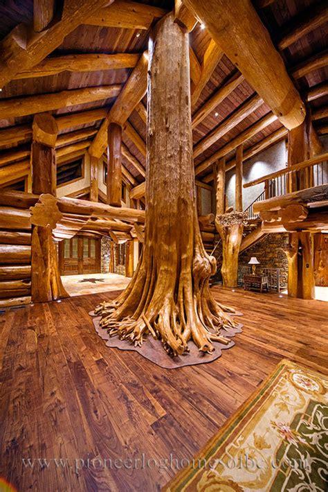 Log Cabin Style Living Room & Loft Designs   BC, Canada