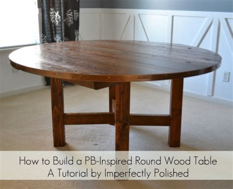 Dining Room Table With Lazy Susan by Round Wood Table Tutorial