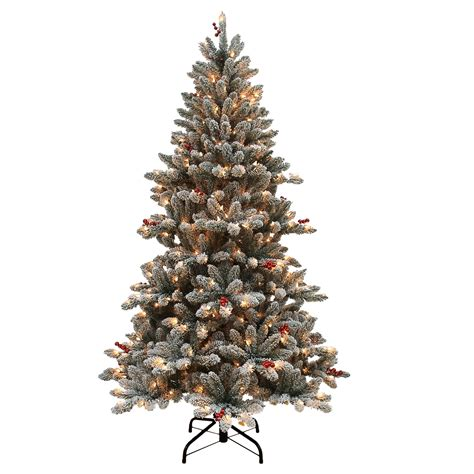 sears flocked trees 6 5ft barrydale flocked pine tree shop your way shopping earn points on tools