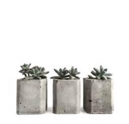 set of 3 mini square concrete planters modern concrete