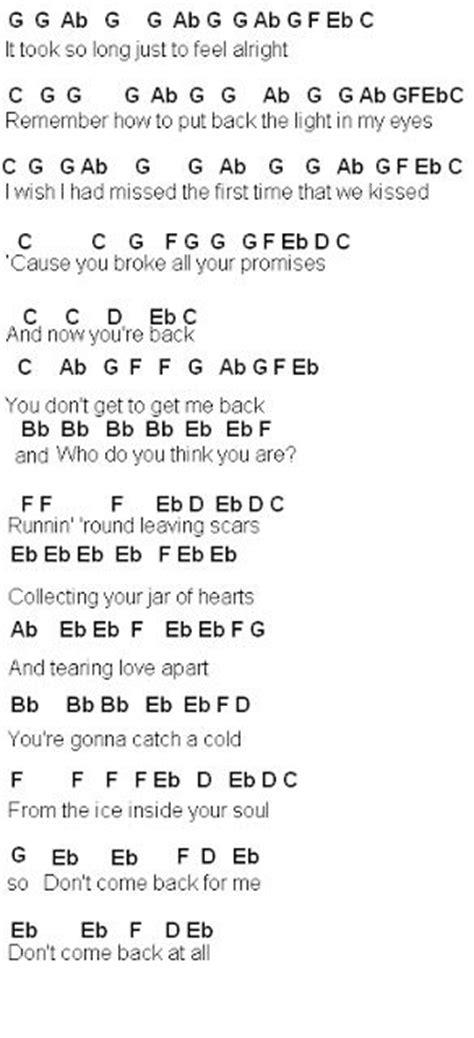 tutorial gitar jar of heart jar of hearts piano sheet music easy with lyrics 1000