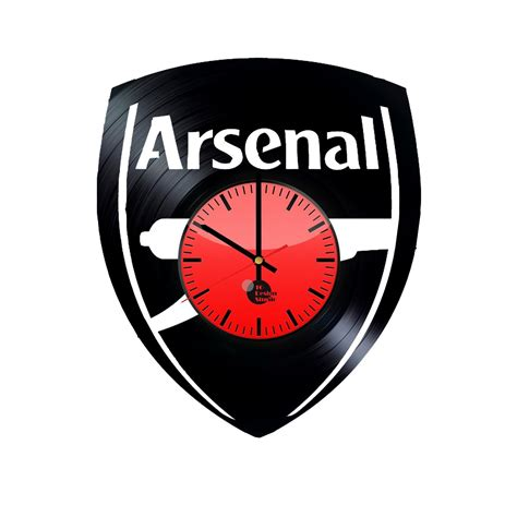 arsenal home record arsenal handmade vinyl record wall clock fan gift vinyl