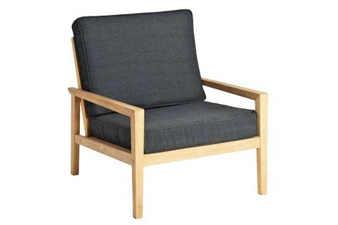 le en bois 1857 fauteuil de salon de jardin en bois avec coussin gris