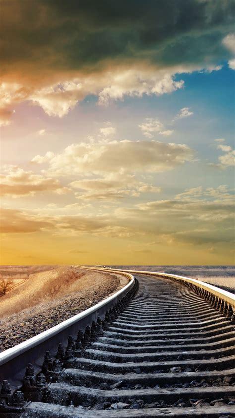 wallpaper railway  hd wallpaper road sky clouds