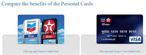 Texaco Gift Card - chevron texaco credit card visa or personal