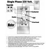 Wiring Diagram Single Phase Electric Motor  Maker