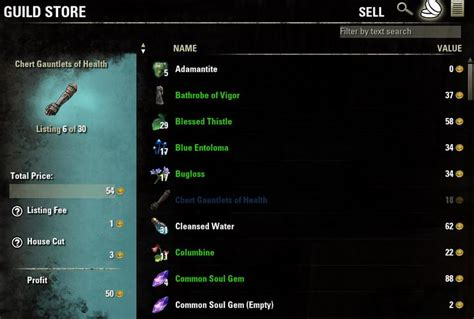 eso auction house eso guild store
