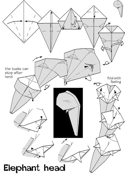 Origami Elephant Diagram - origami elephant diagram 28 images easy origami