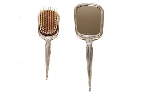 silver mirror set antique 1920 s sterling silver mirror and hair brush