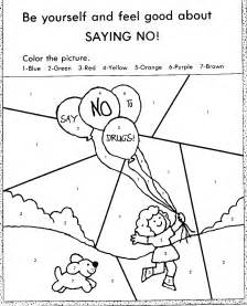 Saying quot no quot coloring page