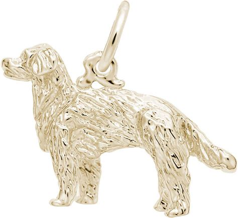 golden retriever charm golden retriever charm choose metal by rembrandt