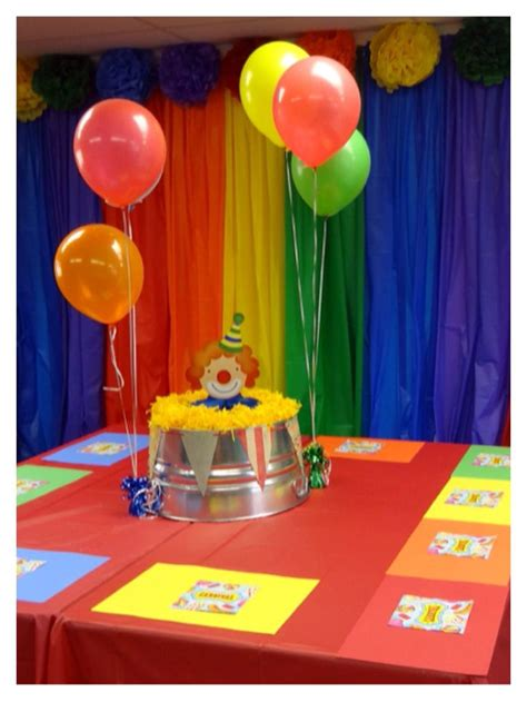 school themed games carnival or circus theme backdrop table decorations for