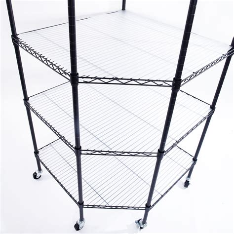 6 Tier Wire Shelving Adjustable Heavy Duty Rack Corner Heavy Duty Wire Shelving