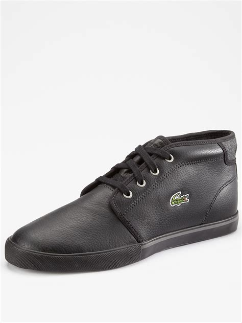 lacoste thill leather mens boots in black for lyst