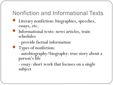 Types Of Literary Essays by I Ii Genre And Literary Elements