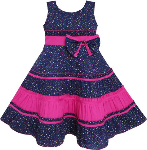 Dress Baby Motif Flower And Polkadot 9 15 Bln Available 3 Color dress bow tie polka dot print striped pattern pink size 7 14 fashion ebay