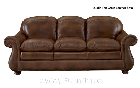 top quality leather sofas duplin brown top grain leather sofa hardwood frame top