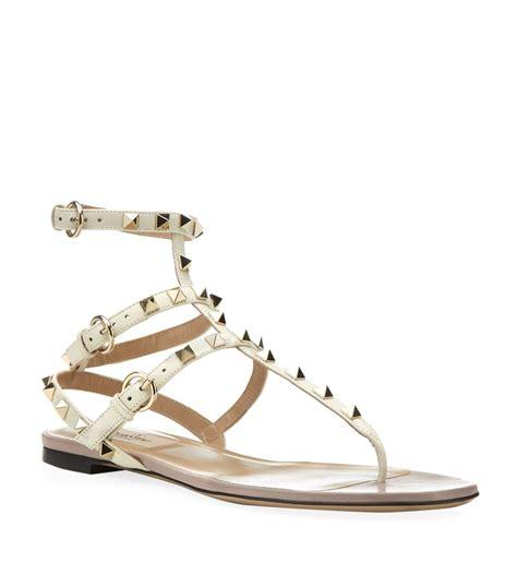 Leather Rockstud Sandals valentino rockstud leather gladiator sandal in lyst