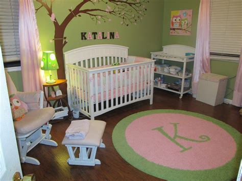 Custom Initial Rug For An Adorable Lime Light Pink Rugs For Nursery
