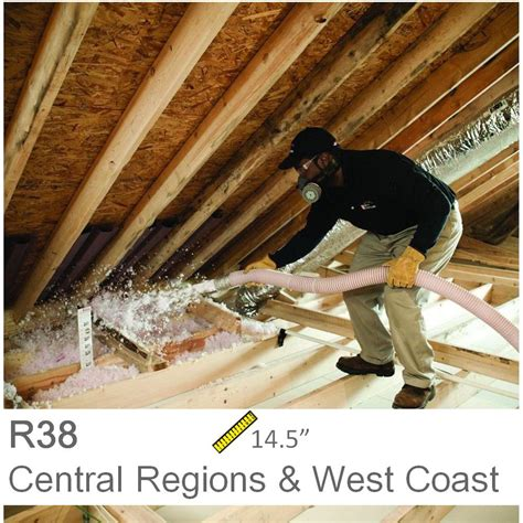 R 38 Ceiling Insulation by Installed R 38 Fiberglass Blown In Attic Insulation 2 500