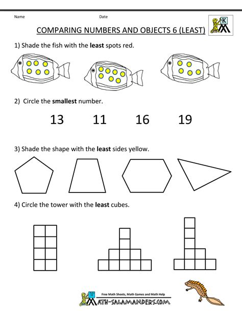 printable comparing numbers games math worksheets for kg2 worksheets for kindergarten math