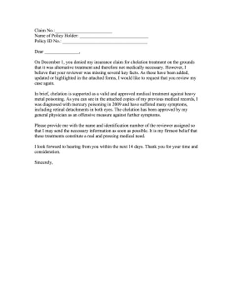 Appeal Letter Not Medically Necessary Insurance Claim Appeal