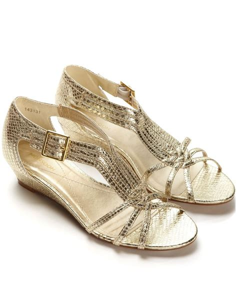 Gold Wedge Wedding Shoes by The Gallery For Gt Gold Wedges Wedding