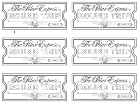 printable minivan express tickets sherbert cafe blank polar express ticket