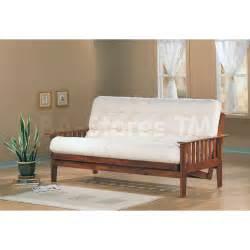 338 00 casual futon frame with slat side detail in oak