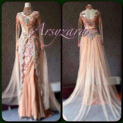 kebaya warna peach 15 best images about kebaya modern on pinterest hijab