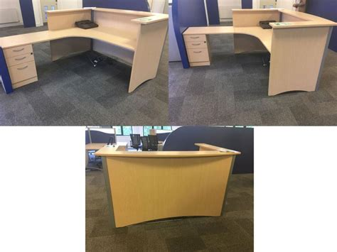 light oak reception desk office clearance wiltshire light oak bow fronted reception