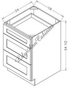 Kitchen Cabinet Drawer Dimensions Rta Legacy Oak Base Cabinets Db18 3 Three Drawer Base Cabinet Midcentury Kitchen Cabinetry
