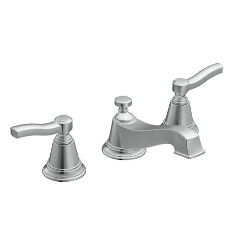 moen widespread bathroom faucet shop moen rothbury chrome 2 handle widespread watersense