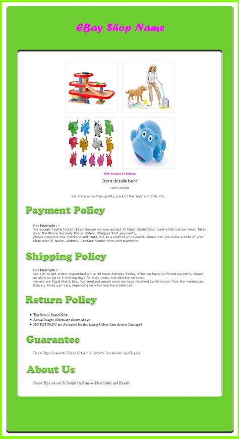 templates for ebay listings free ebay auction template and flash auction template ebay