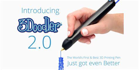 kickstarter 3doodler pen 3doodler 2 0 and new accessories launch on kickstarter