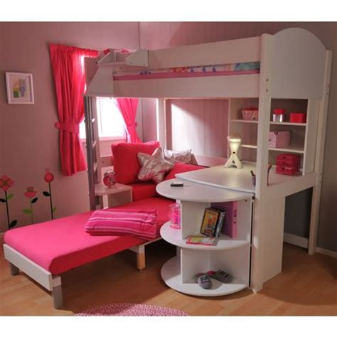 bunk bed with single futon and desk loft bunk beds desk ideas advice for your home decoration