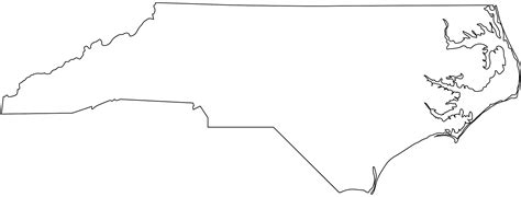 nc map coloring page north carolina map silhouette free vector silhouettes