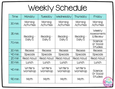 printable lesson plans for 2nd grade 2nd grade classroom schedule pictures to pin on pinterest