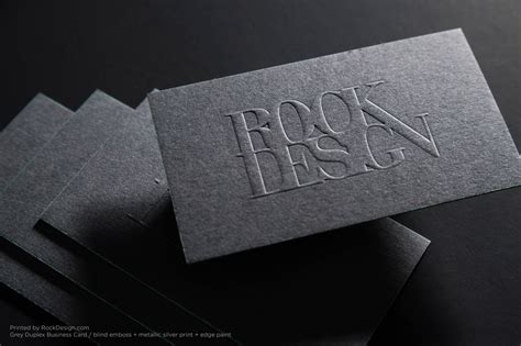 photoshop card emboss template print embossed business cards today rockdesign